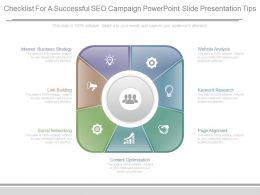 Checklist For A Successful Seo Campaign Powerpoint Slide Presentation Tips