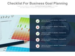 Checklist For Business Goal Planning Powerpoint Slides