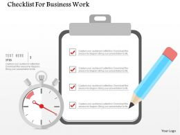 Checklist For Business Work Flat Powerpoint Design