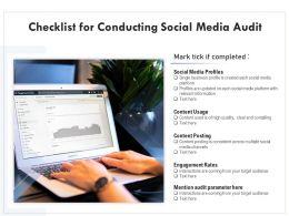 Checklist For Conducting Social Media Audit