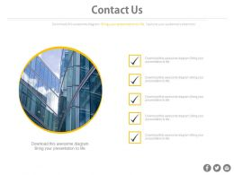 Checklist For Contact Us Details Of Company Powerpoint Slides
