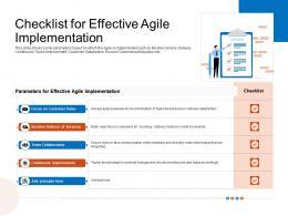 Checklist For Effective Agile Implementation Implementation Ppt Elements