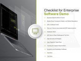 Checklist For Enterprise Software Demo