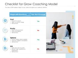 Checklist For Grow Coaching Model