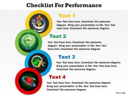 checklist for performance with circles powerpoint diagram templates graphics 712