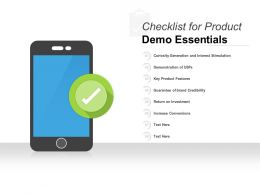Checklist For Product Demo Essentials