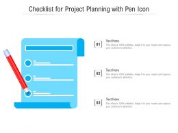 Checklist For Project Planning With Pen Icon