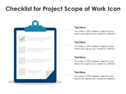 Checklist For Project Scope Of Work Icon