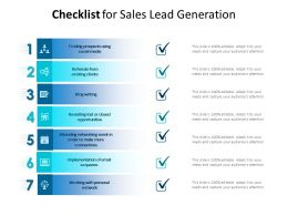 Checklist For Sales Lead Generation