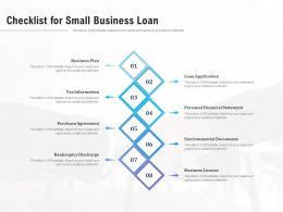Checklist For Small Business Loan