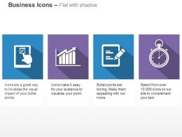 Checklist Growth Bar Graph Business Records Time Management Ppt Icons Graphics