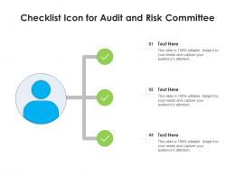 Checklist Icon For Audit And Risk Committee