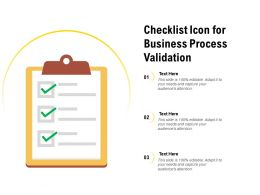 Checklist Icon For Business Process Validation