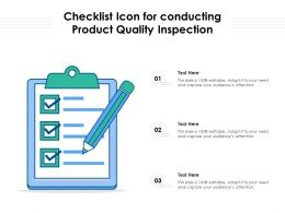 Checklist Icon For Conducting Product Quality Inspection