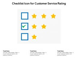 Checklist Icon For Customer Service Rating