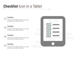 Checklist Icon In A Tablet