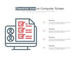 Checklist Icon On Computer Screen