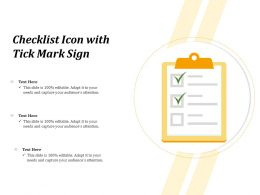 Checklist Icon With Tick Mark Sign