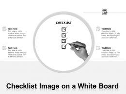 Checklist Image On A White Board