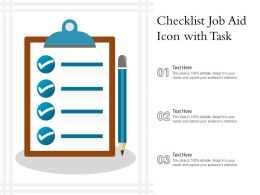 Checklist Job Aid Icon With Task