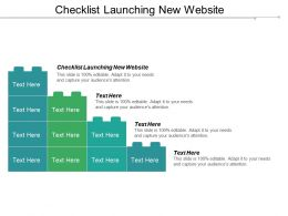Checklist Launching New Website Ppt Powerpoint Presentation Gallery Designs Cpb