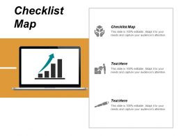 Checklist Map Ppt Powerpoint Presentation Gallery Aids Cpb