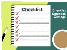 Checklist Notebook Image