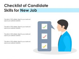 Checklist Of Candidate Skills For New Job