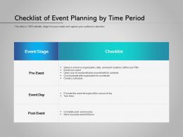 Checklist Of Event Planning By Time Period