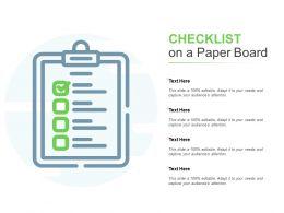 Checklist On A Paper Board