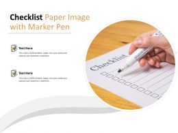 Checklist Paper Image With Marker Pen