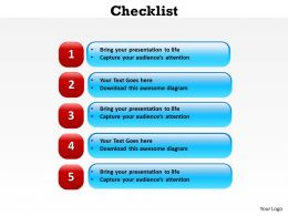checklist powerpoint slide