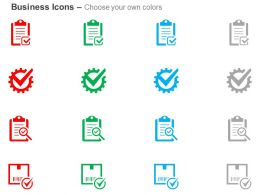 Checklist Quality Check Correct Report Analysis Ppt Icons Graphics