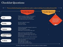 Checklist Questions Expressing Gratitude Ppt Powerpoint Presentation Templates