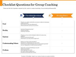 Checklist Questions For Group Coaching Internal Dialogue Ppt Powerpoint Presentation Files