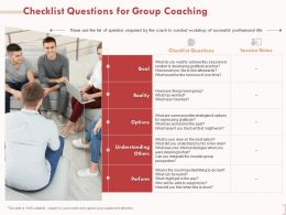 Checklist Questions For Group Coaching Understanding Others Ppt Visual Aids Summary