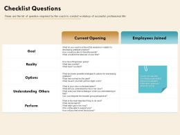 Checklist Questions Successful Professional Ppt Powerpoint Presentation Visual Aids Deck