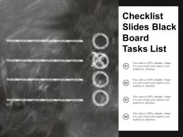 Checklist Slides Black Board Tasks List