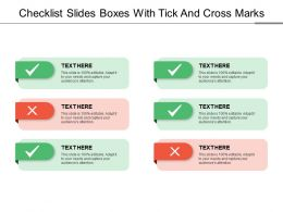 Checklist Slides Boxes With Tick And Cross Marks