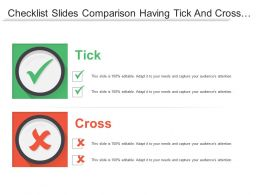 Checklist Slides Comparison Having Tick And Cross Mark