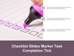 Checklist Slides Marker Task Completion Tick