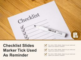 Checklist Slides Marker Tick Used As Reminder
