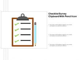 Checklist Survey Clipboard With Pencil Icon