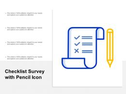 Checklist Survey With Pencil Icon