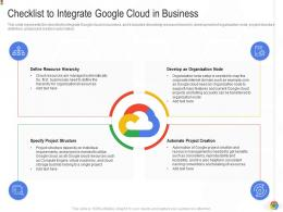 Checklist To Integrate Google Cloud In Business Google Cloud IT Ppt Clipart