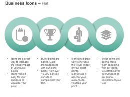 Checklist Trophy Business Man Books Ppt Icons Graphics