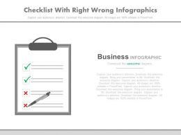 Checklist With Right Wrong Infographics Powerpoint Slides