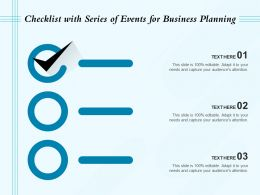 Checklist With Series Of Events For Business Planning
