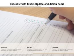 Checklist With Status Update And Action Items