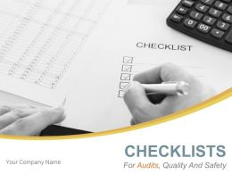 Checklists For Audits Quality And Safety Powerpoint Presentation Slides